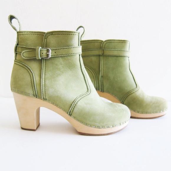 2281d79905b Swedish Hasbeens Jodhpur Green Leather Boots 38 8.  M 5a4c359305f430c8e50066a6